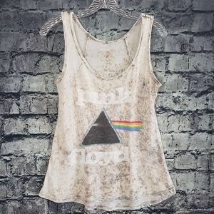 Pink Floyd distressed dark side of the moon tank